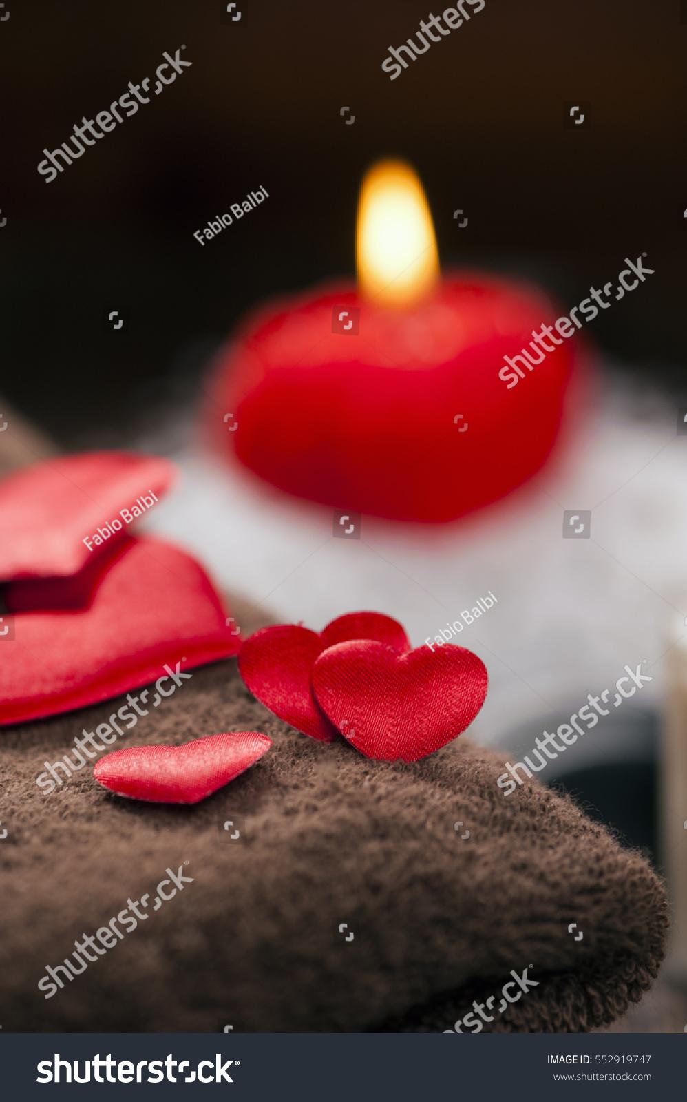 Wellness Decoration Valentines Day Stock Photo 552919747