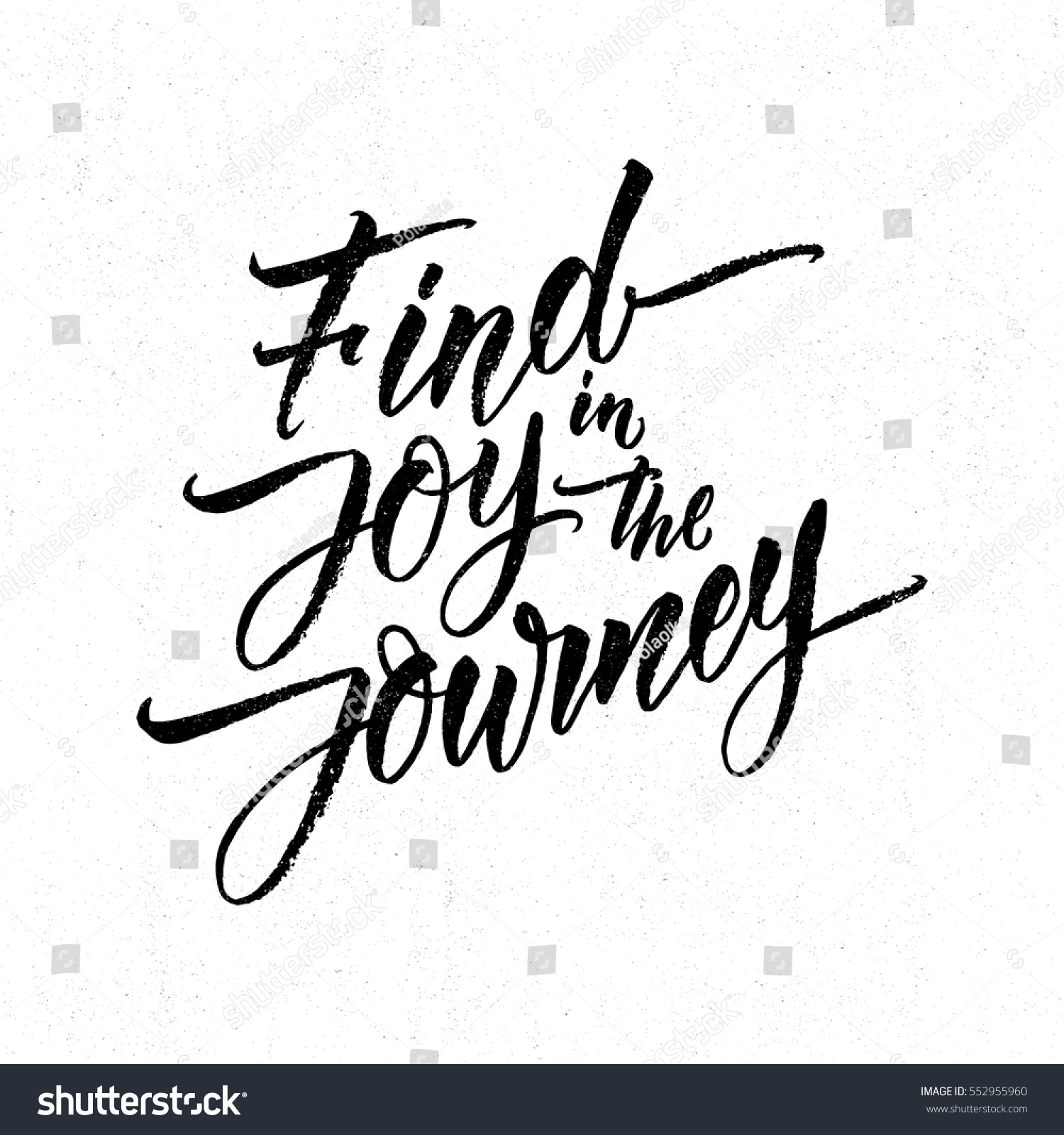 Modern Calligraphy Inspirational Quote Find Joy Stock Vector