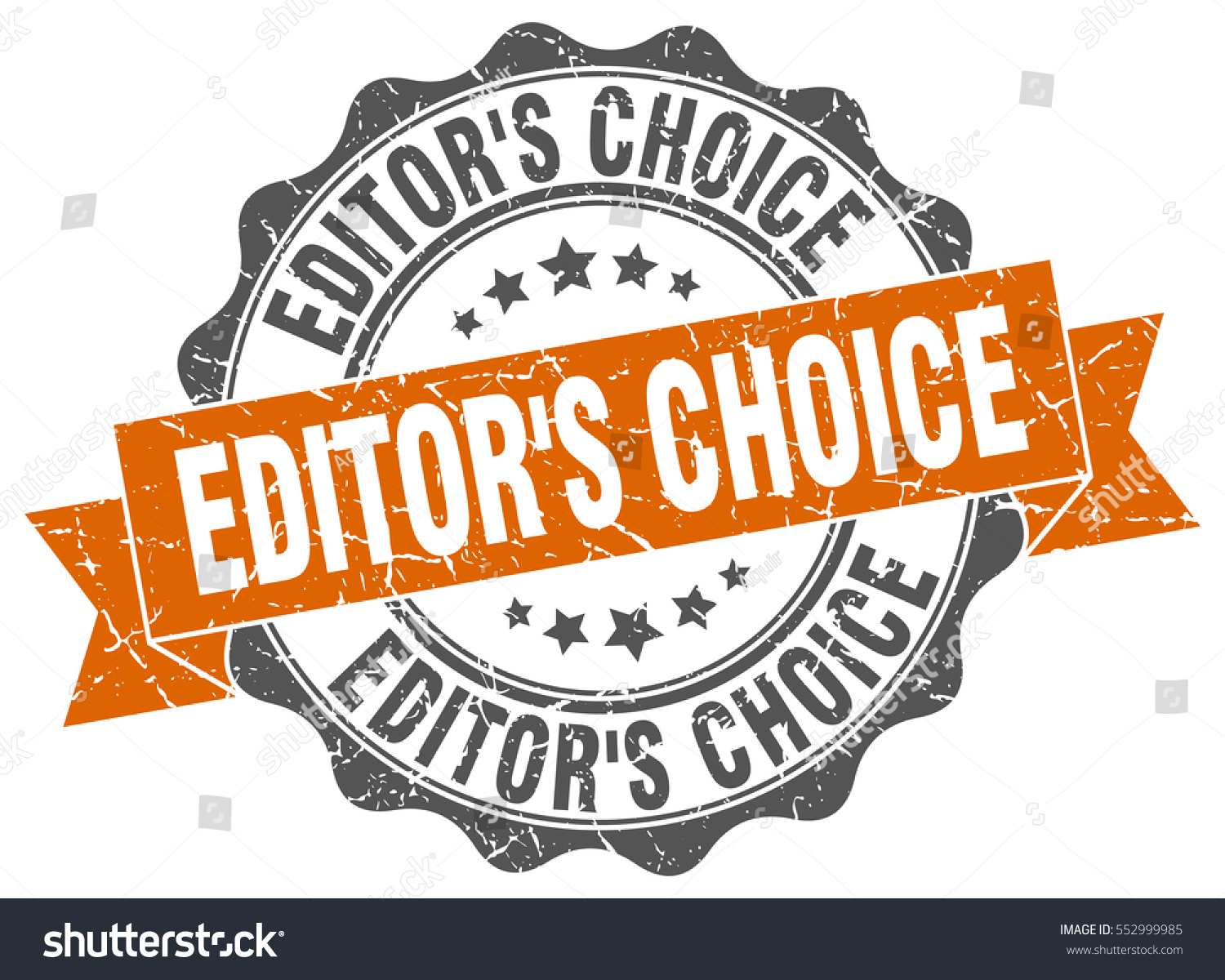 Editors choice stamp sticker seal round grunge vintage ribbon editors choice sign