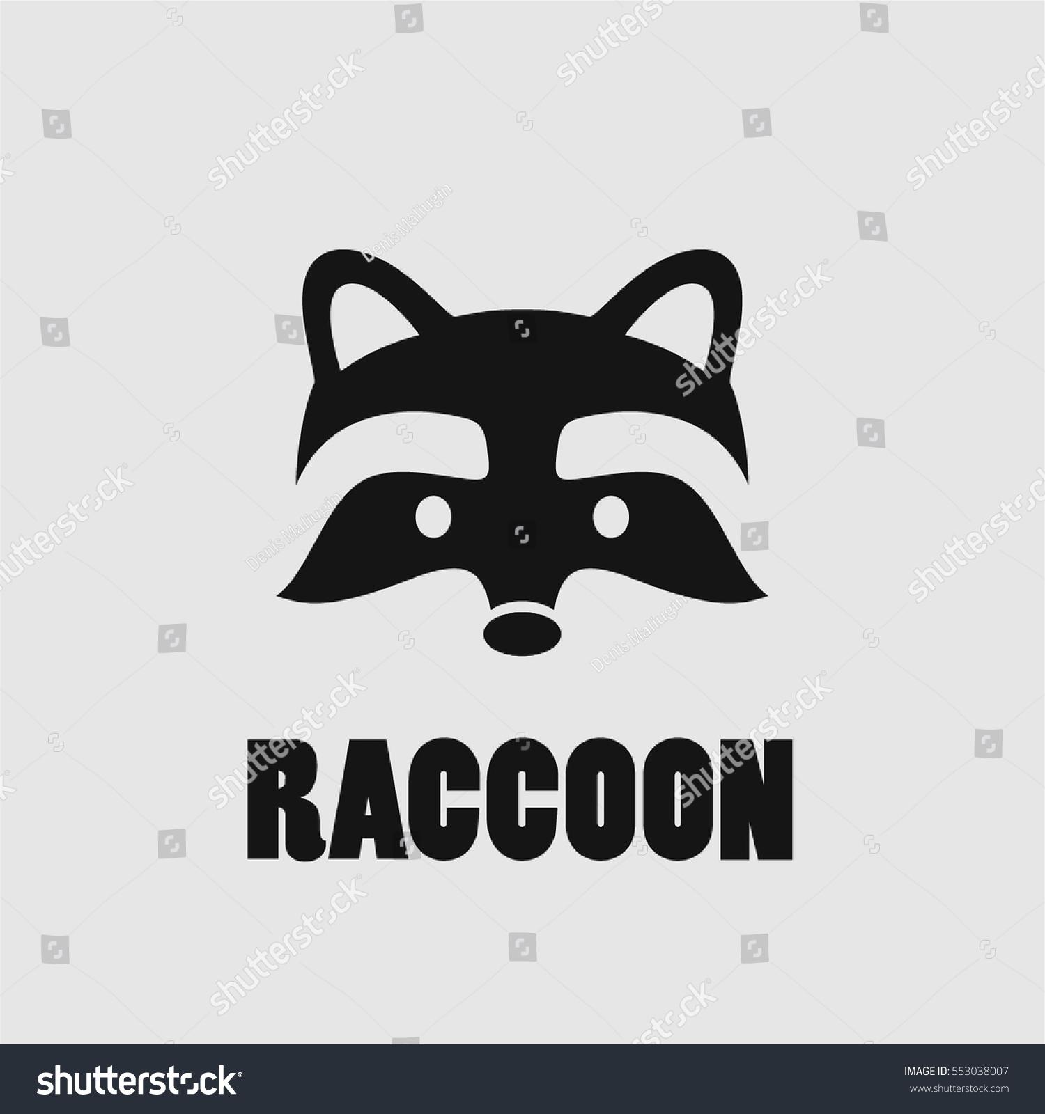 Raccoon Face Logo Simple Black Vector Stock Vector ... Raccoon Face Clip Art