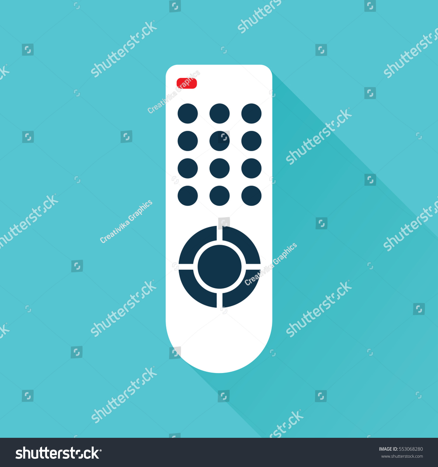 Remote Control TV Media Center Flat Stock Vector (Royalty Free ...