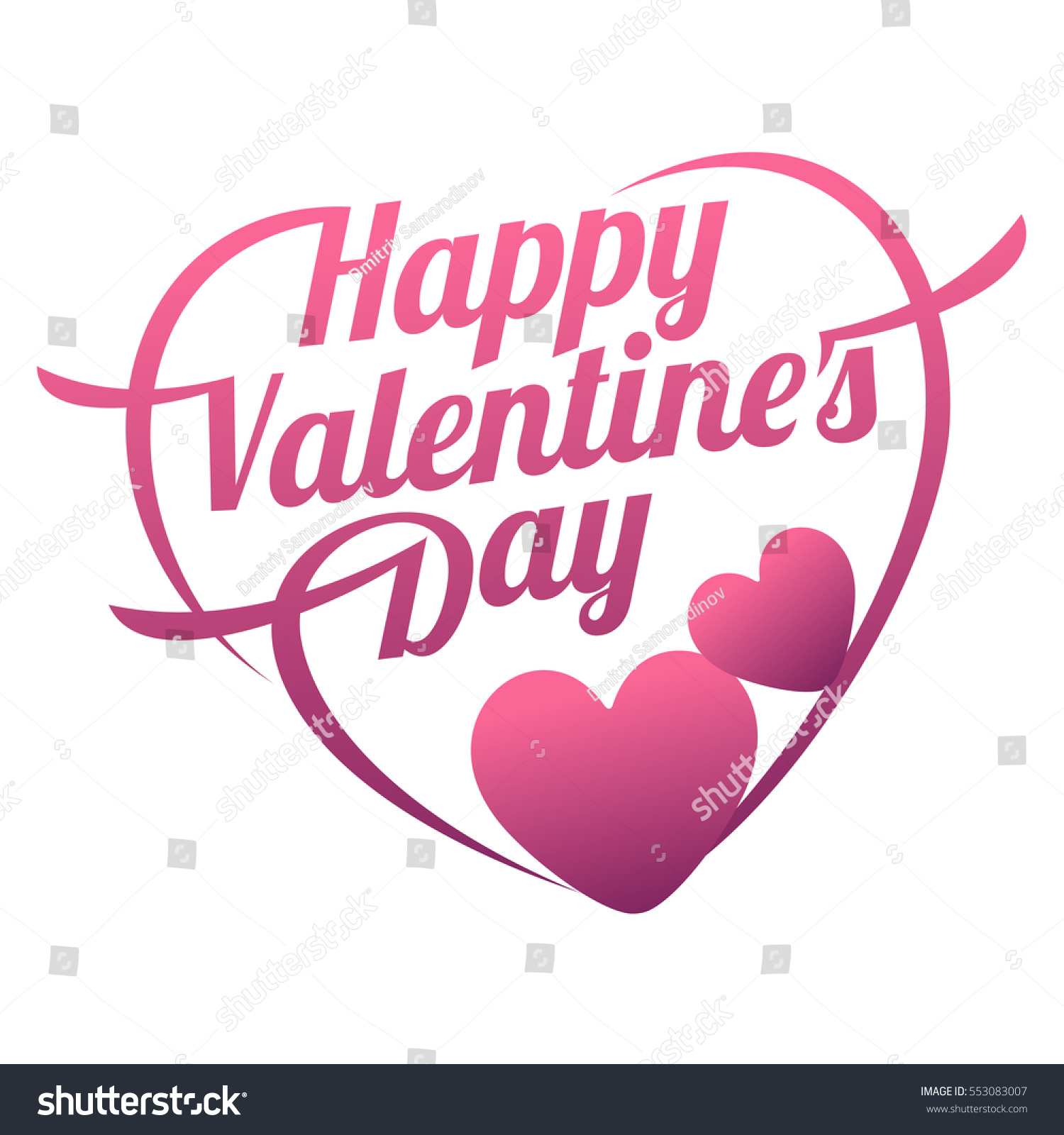 Vector Illustration Ard Happy Valentines Day Stock Vector Royalty