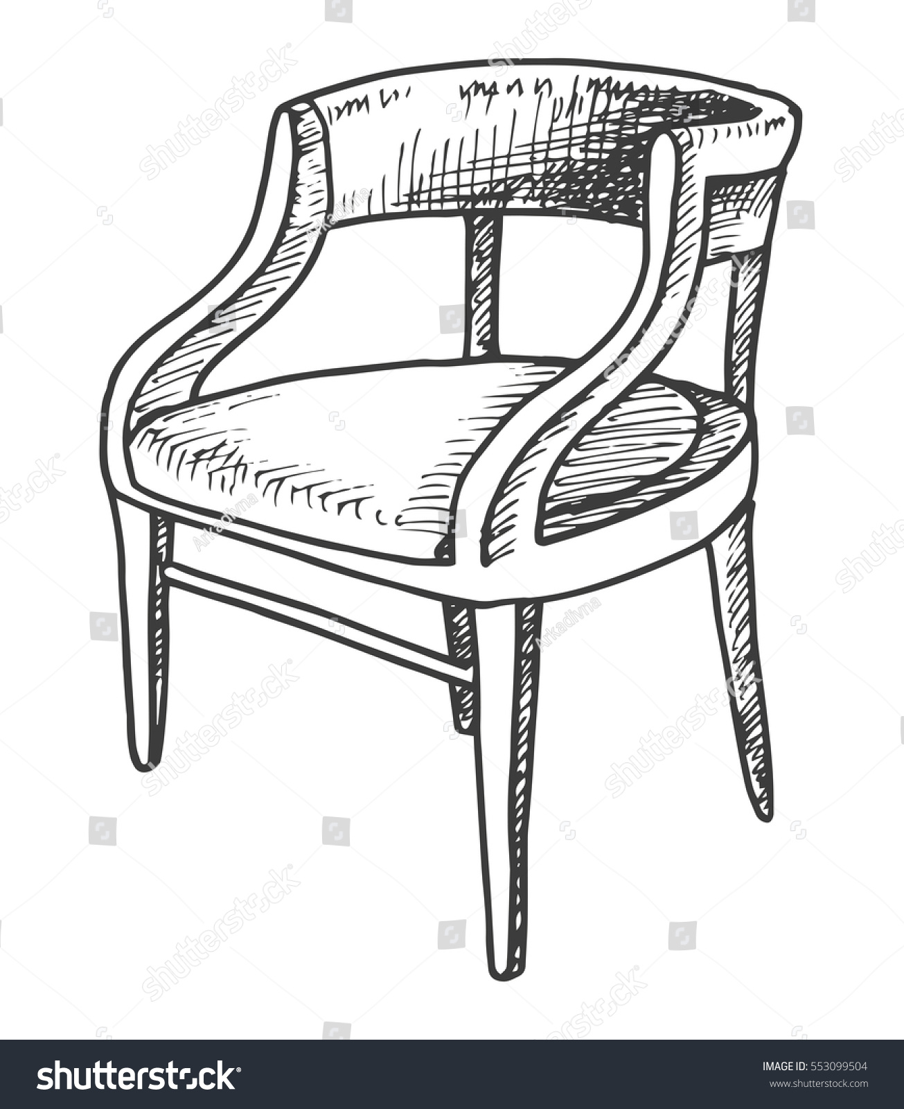 Chair Sketch chair sketch isolated on white background stock vector 553099504