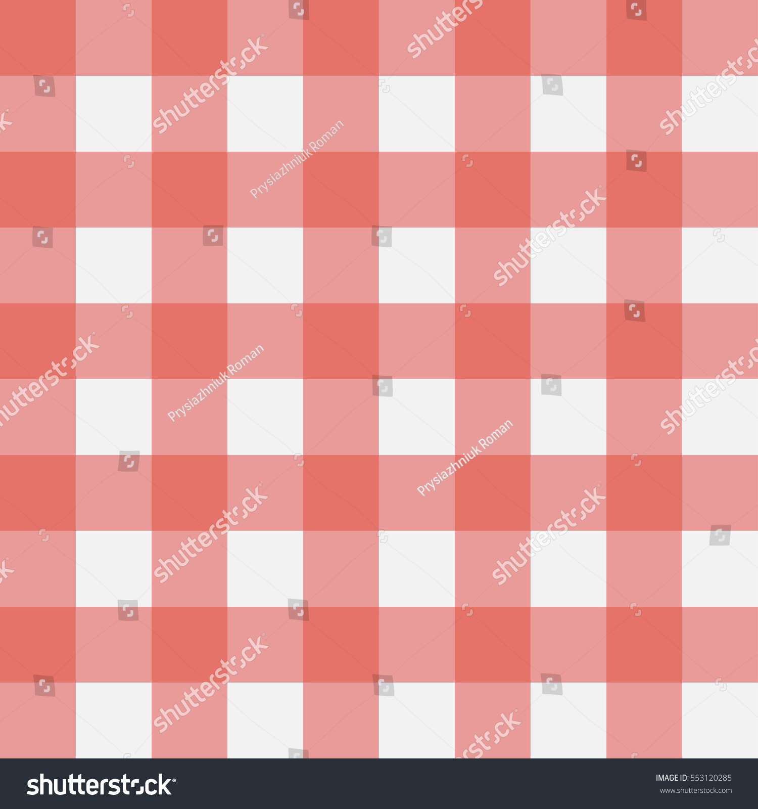 Red Gingham Seamless Pattern. Perpendicular Strips. Texture For   Plaid,  Tablecloths, Clothes