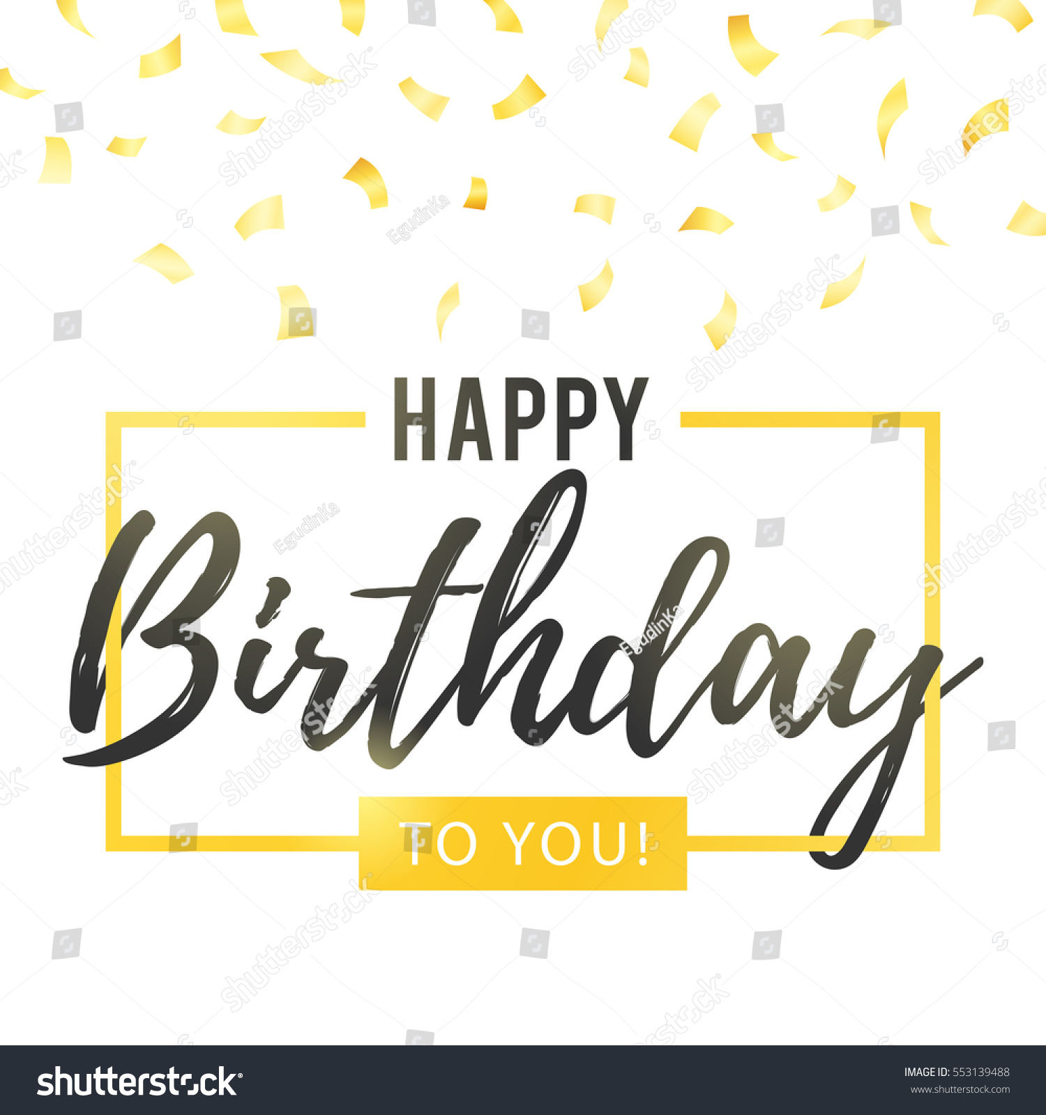 happy birthday you lettering gold frame stock vector happy birthday you lettering gold frame stock vector 146