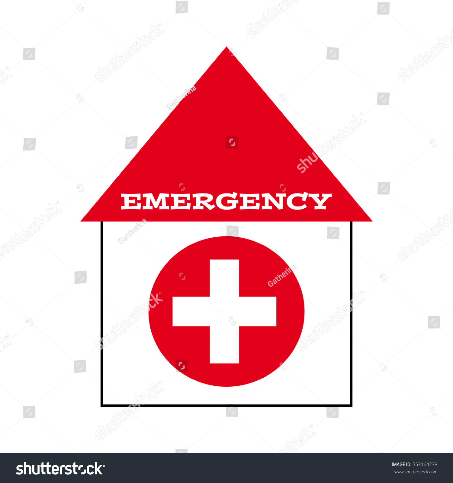 Hospital Symbol On White Background Vector Stock Vector Royalty