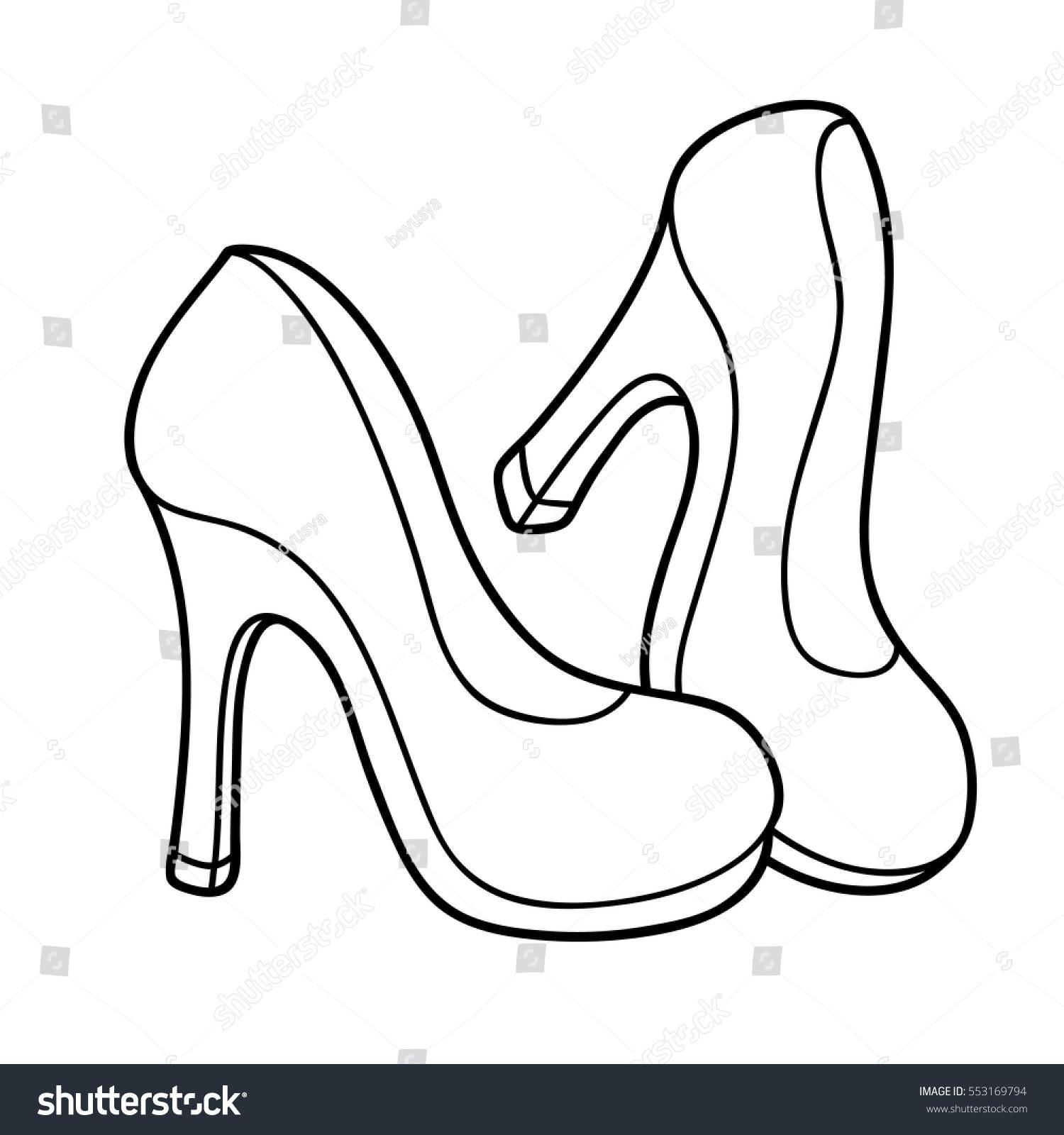 vector illustration cute cartoon high heel stock vector 553169794