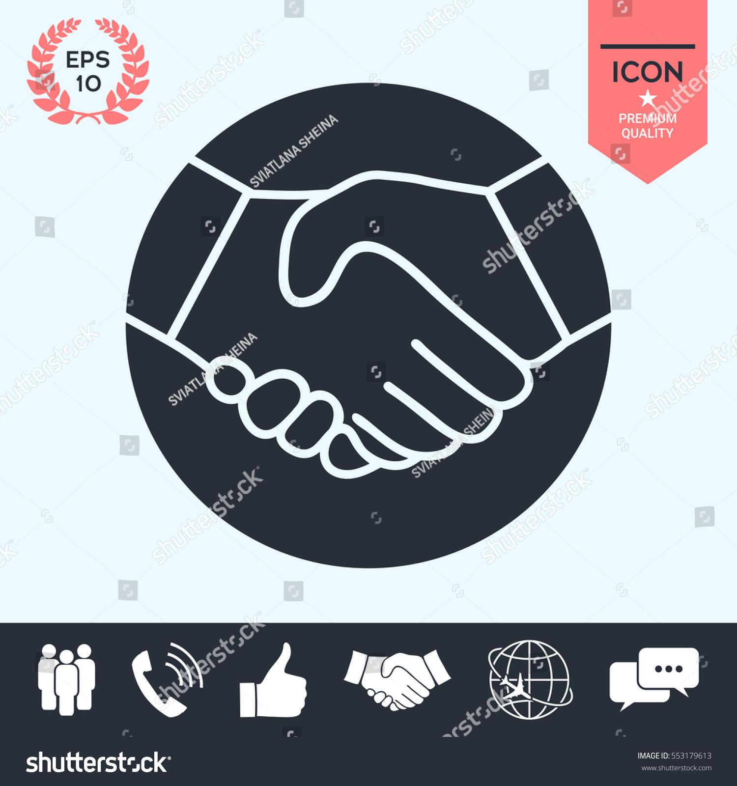 Symbol handshake circle icon stock vector 553179613 shutterstock symbol of handshake in circle icon buycottarizona