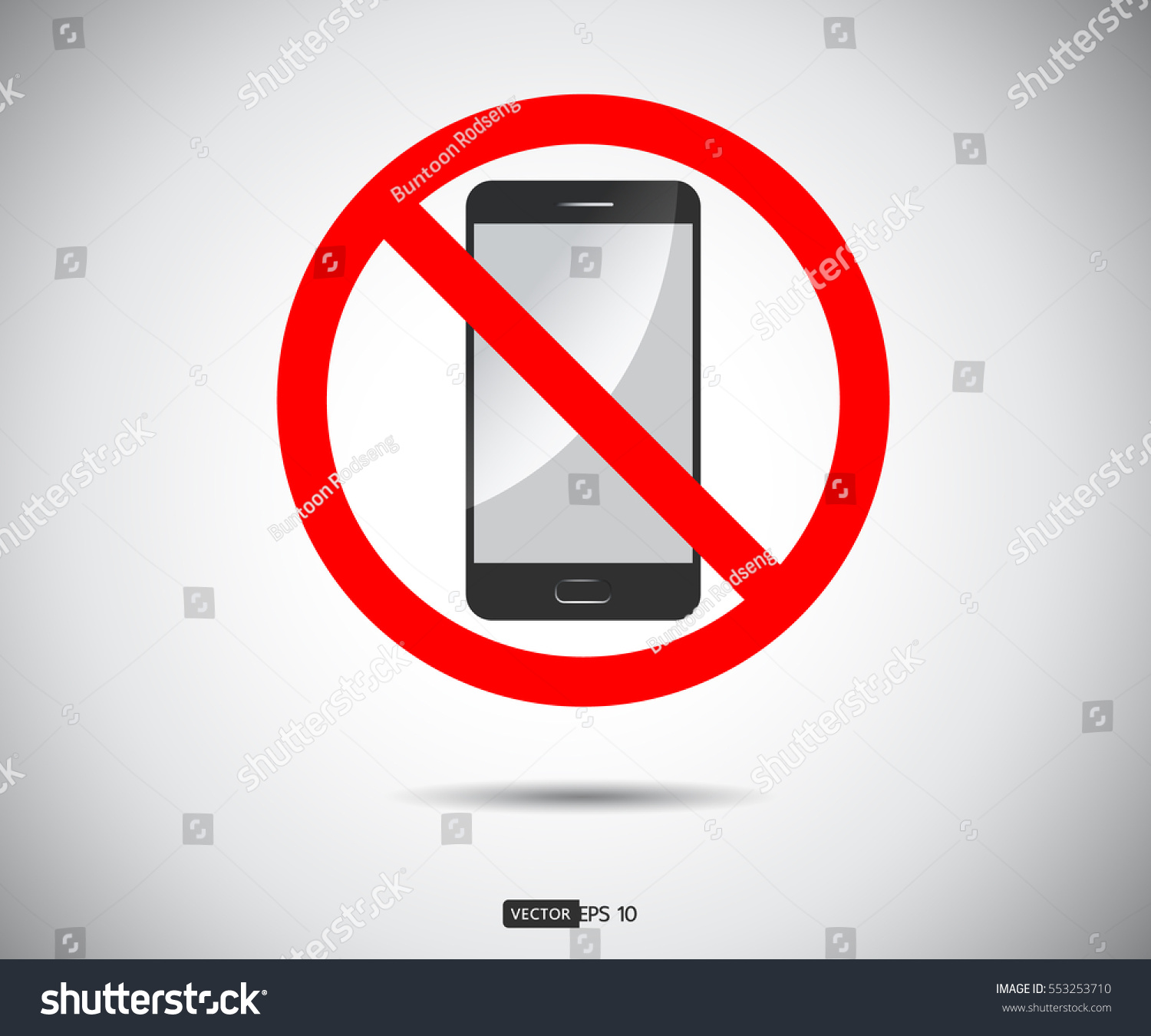 No Cell Phone Mobile Phone Prohibited Stock Vector Hd Royalty Free