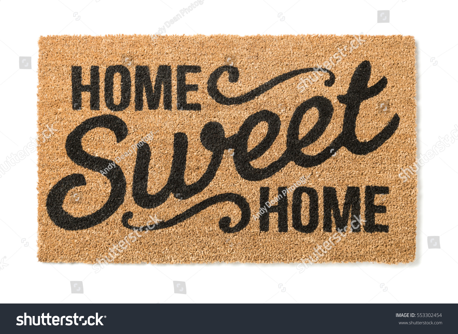 home sweet home welcome mat isolated stock photo 553302454 shutterstock. Black Bedroom Furniture Sets. Home Design Ideas