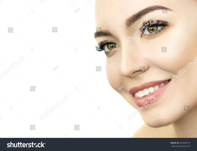 Beauty Model Perfect Fresh Skin Long Stock Photo Edit Now
