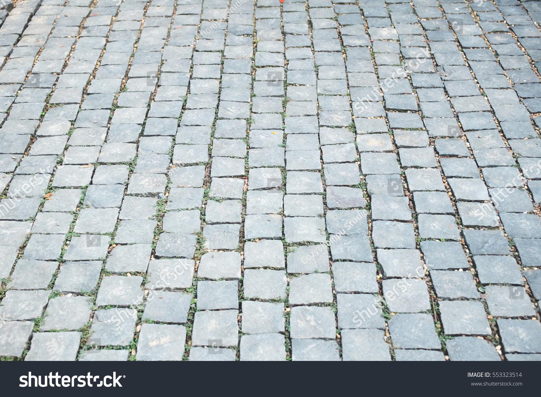 White brick texture with stone tile walkway | EZ Canvas