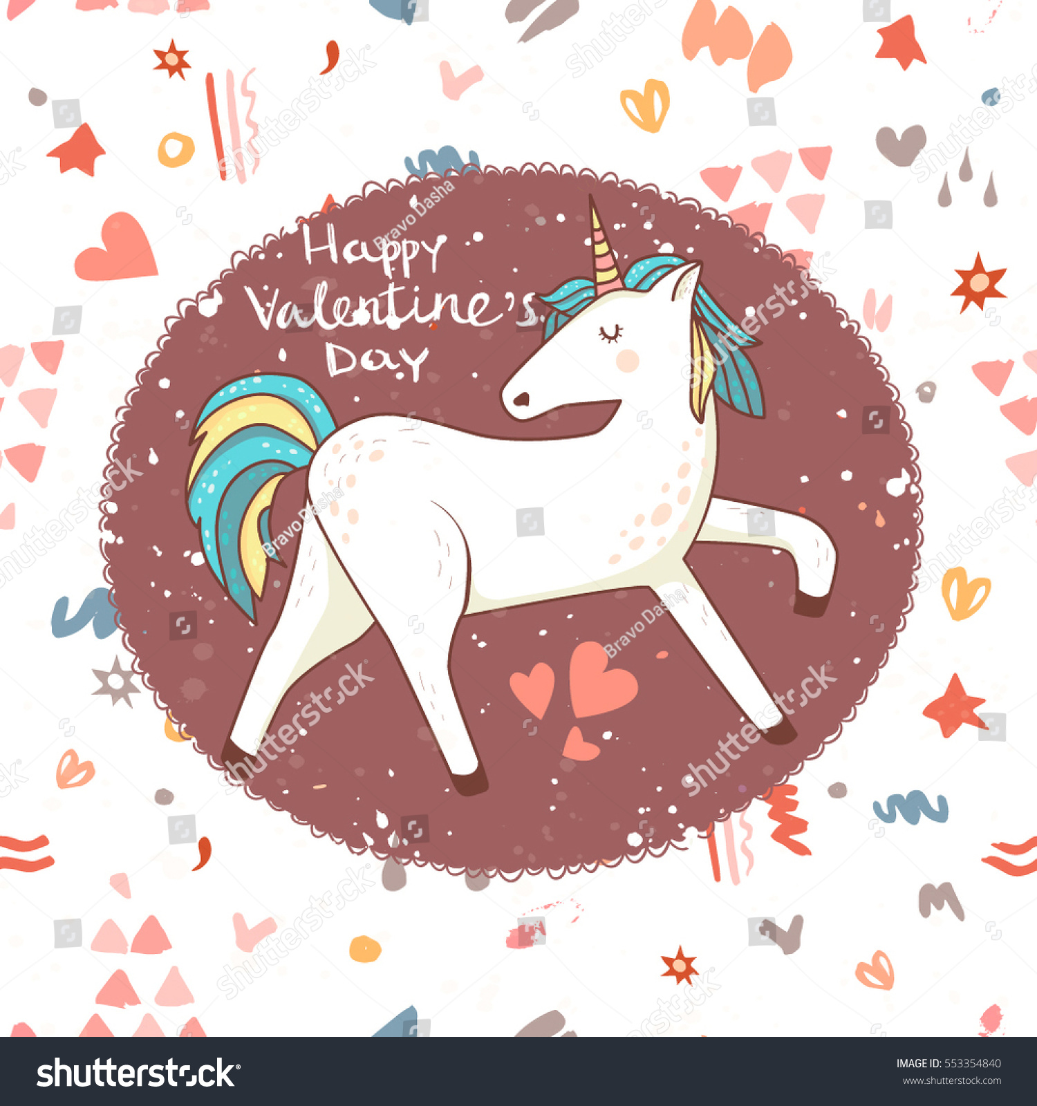 Happy Valentines Day Card Vector Card Vector 553354840 – Horse Valentines Day Cards