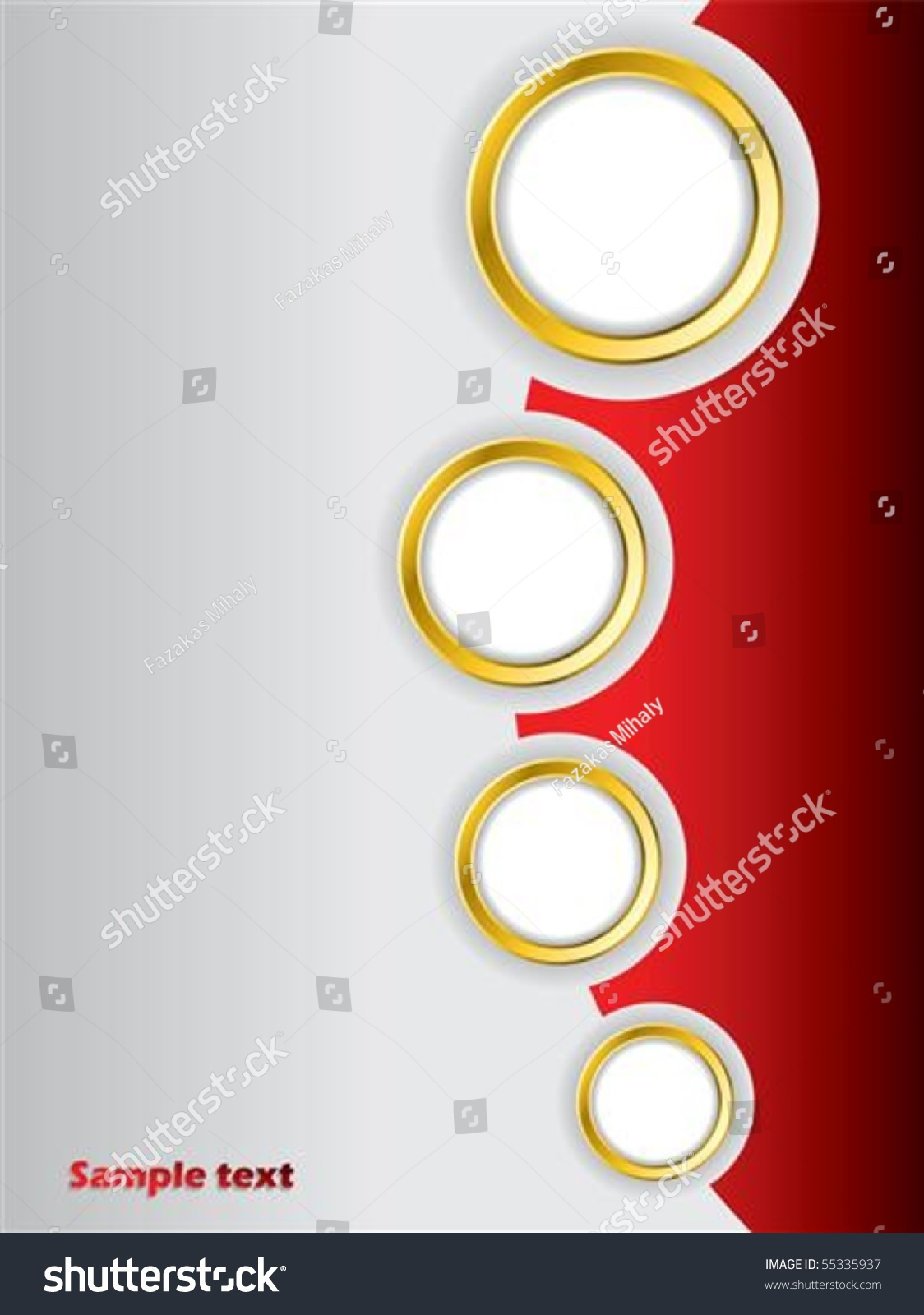 Red brochure design background template stock vector for Background for brochure design