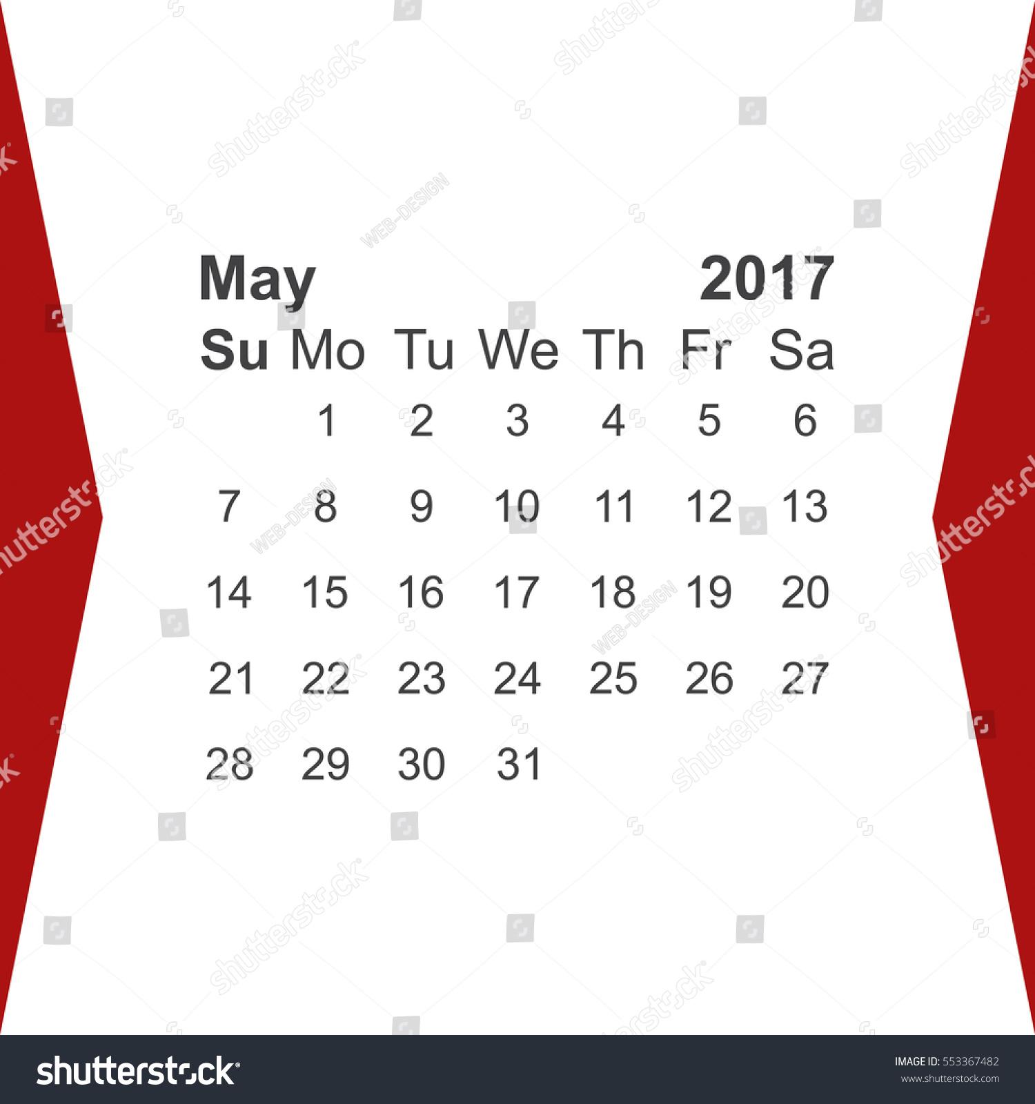 May Calendar Vector : May calendar icon vector flat stock