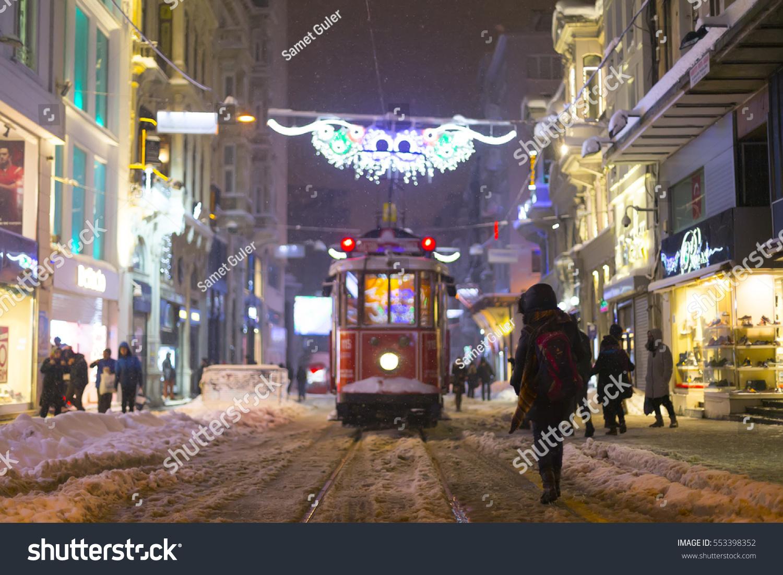 Istanbul Taksim 11 January 2017 Taksim Stock Photo 553398352