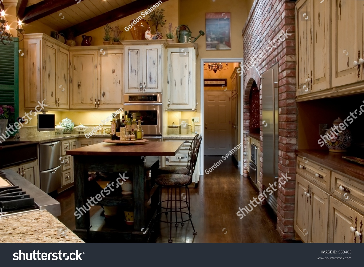 Newly Remodeled Kitchen With A French Farmhouse Theme