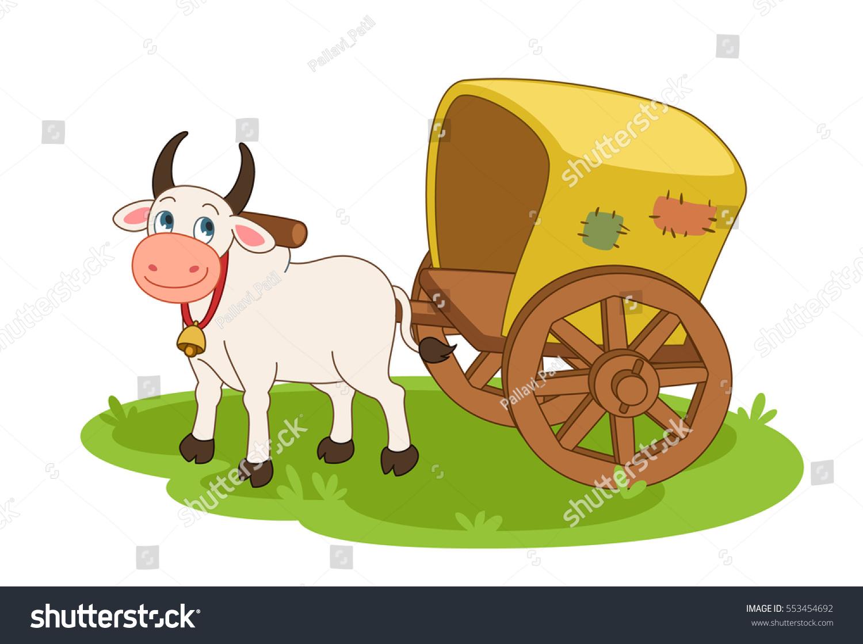 Bullock Cart Stock Vector 553454692 Shutterstock
