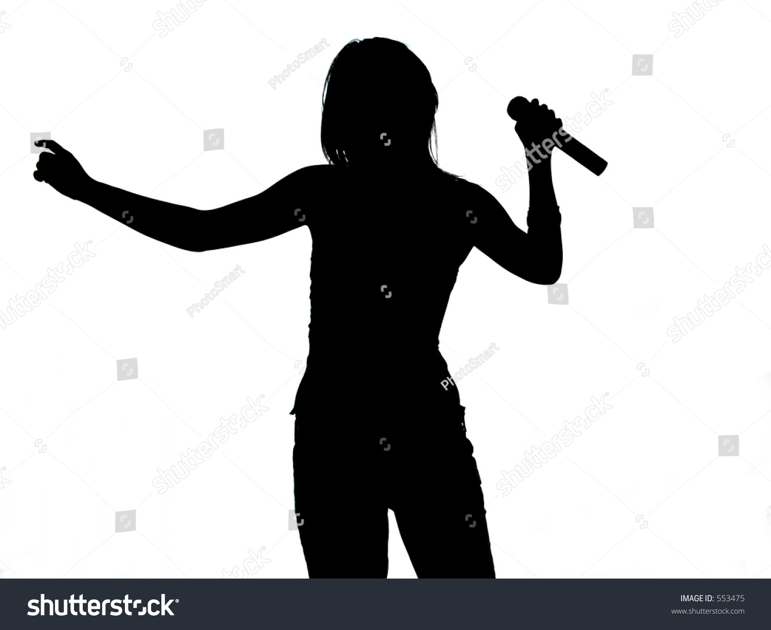 Silhouette Of A Singin...