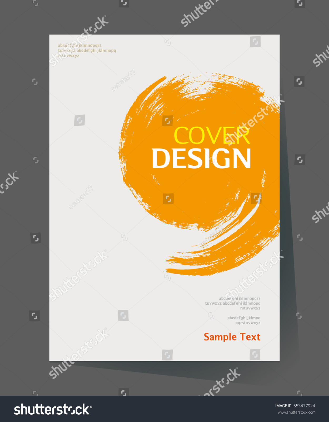 Book Cover Template Paint ~ Book cover design vector template a stock