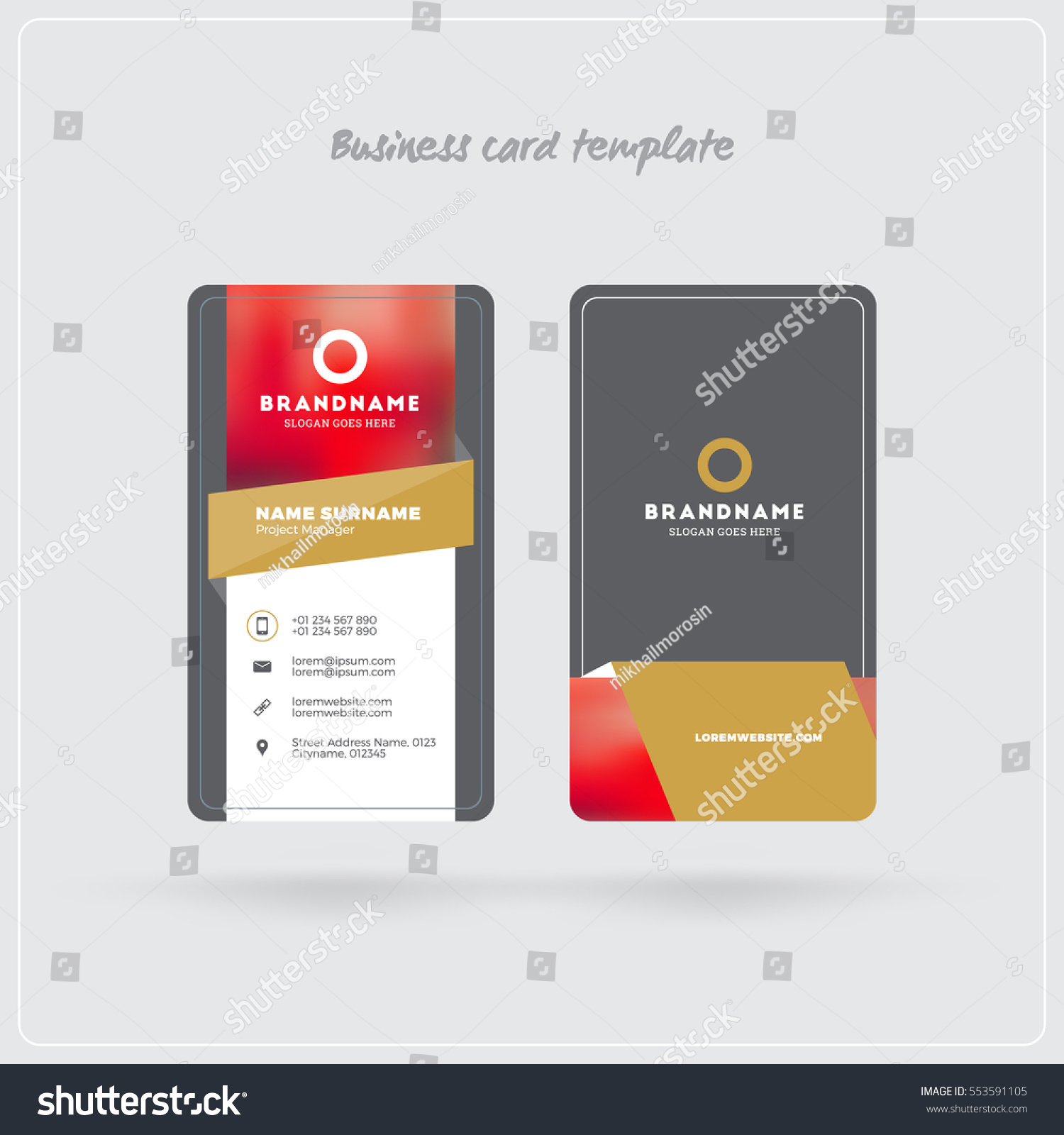 100 [ rounded corner business card template ]
