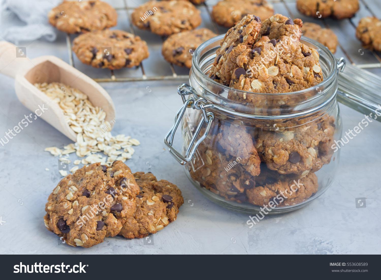 Oatmeal Cookies Chocolate Chips Brown Sugar Crumble