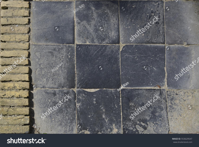 Black Stone Tile Floor Stock Photo Royalty Free 553629547