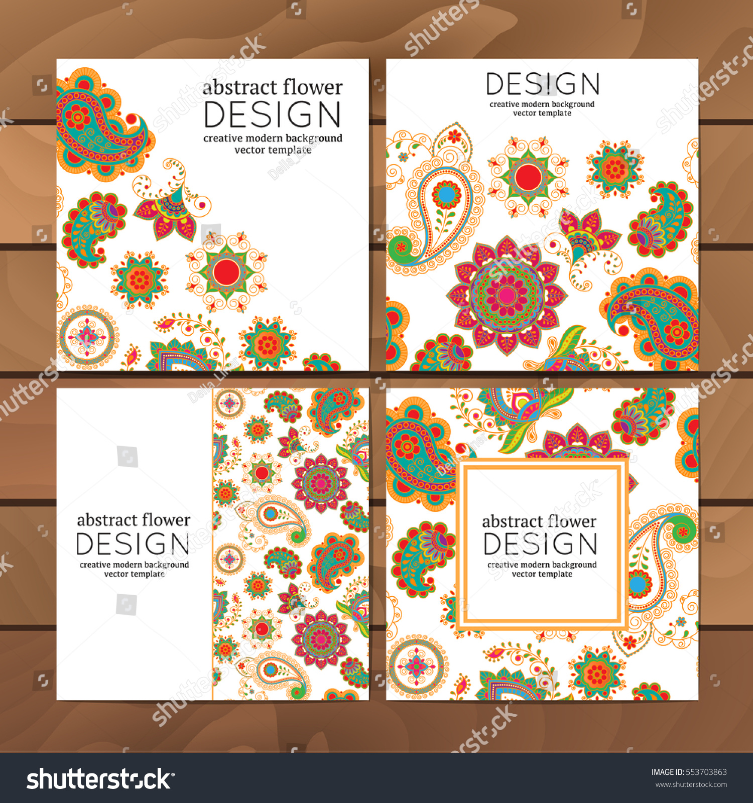 Vector set business cards flayers banners stock vector 553703863 vector set of business cards flayers or banners with oriental pattern paisley and mandala magicingreecefo Images