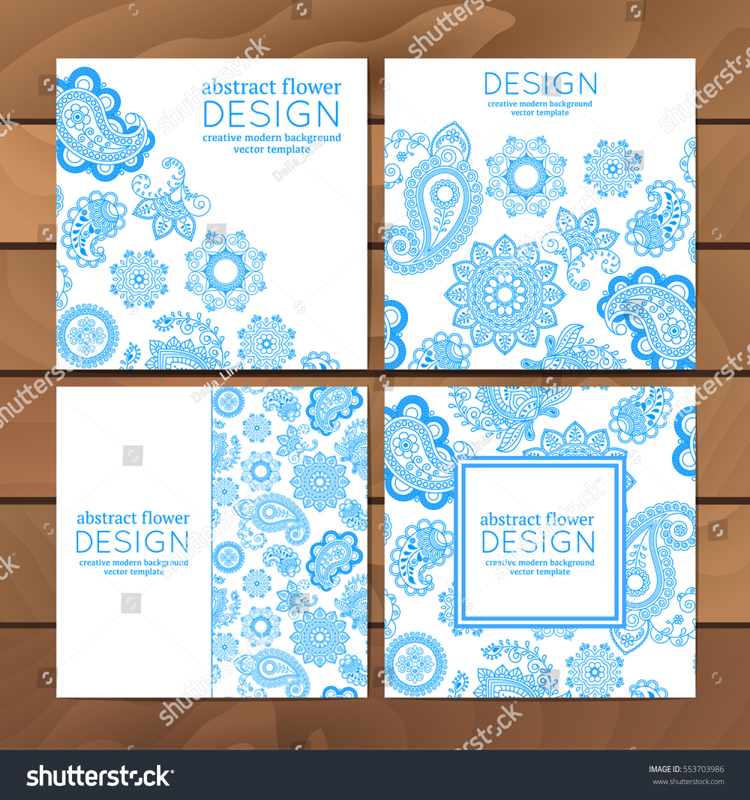 Vector set business cards flayers banners stock vector 553703986 vector set of business cards flayers or banners with oriental pattern paisley and mandala magicingreecefo Images
