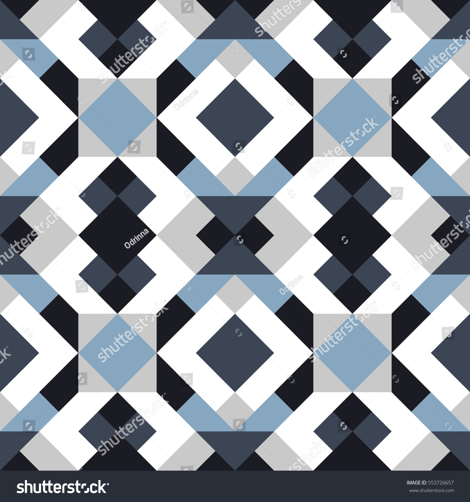 Abstract Seamless Pattern Design Grey White Stock Vector 2018