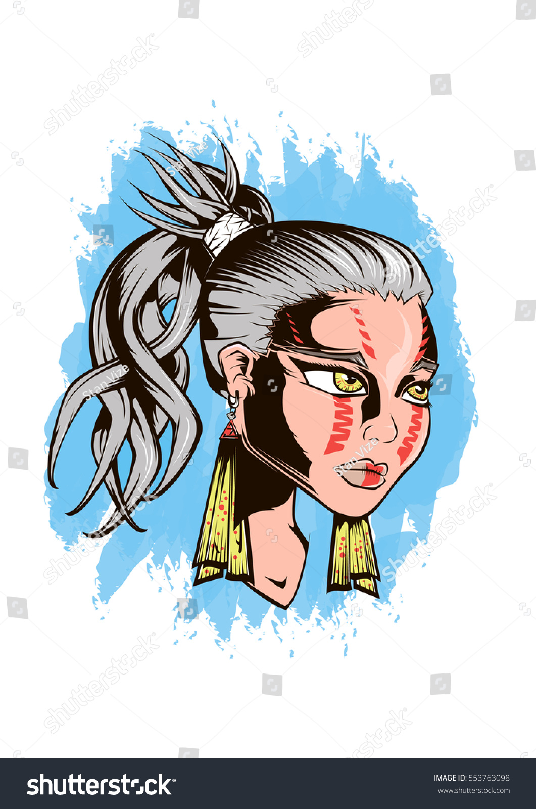 Little Girl Warrior Clip Art