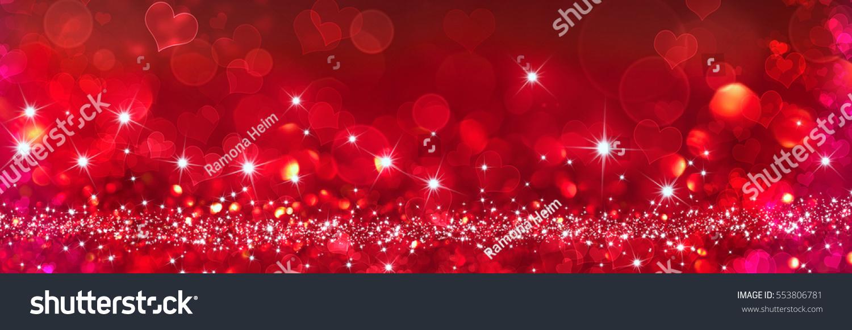 Bokeh Heart Shape Of Light Background Stock Footage Video: Heart Shapes Bokeh Effect Background Stock Photo 553806781