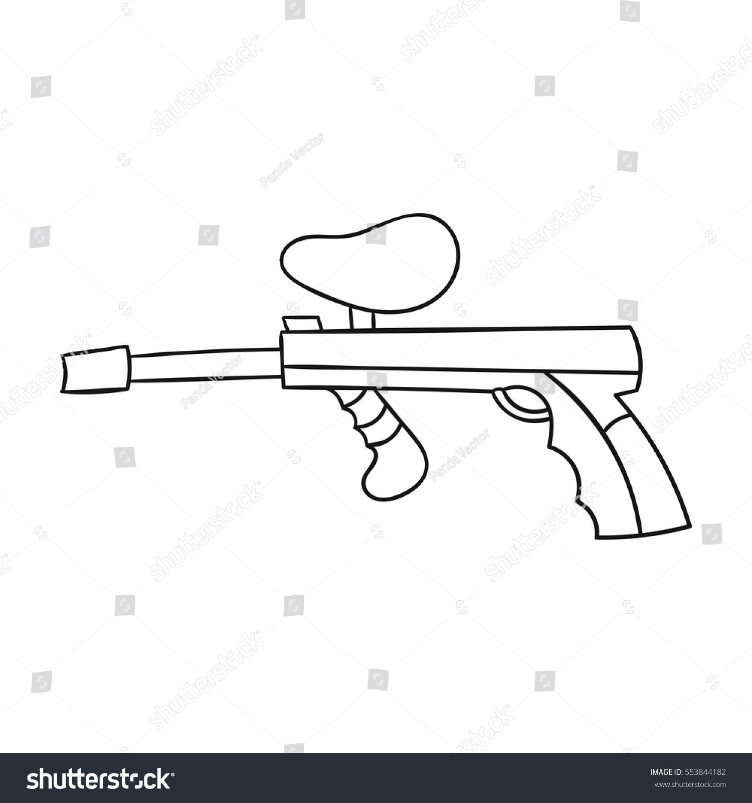 Paintball gun icon outline style isolated stock vector 553844182 paintball gun icon in outline style isolated on white background paintball symbol stock vector illustration biocorpaavc Images