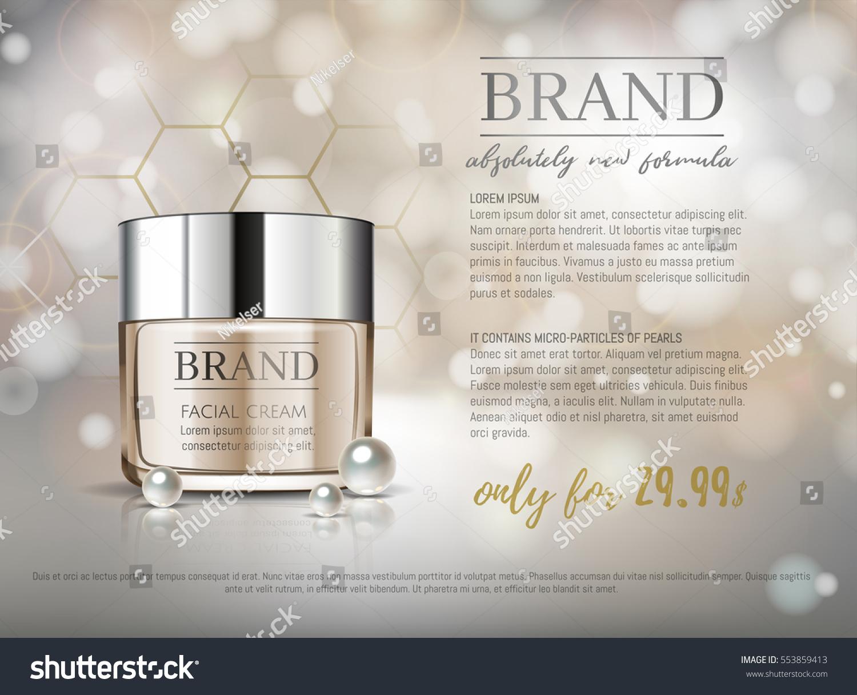Premium Vip Cosmetic Ads Hydrating Luxury Stock Vector