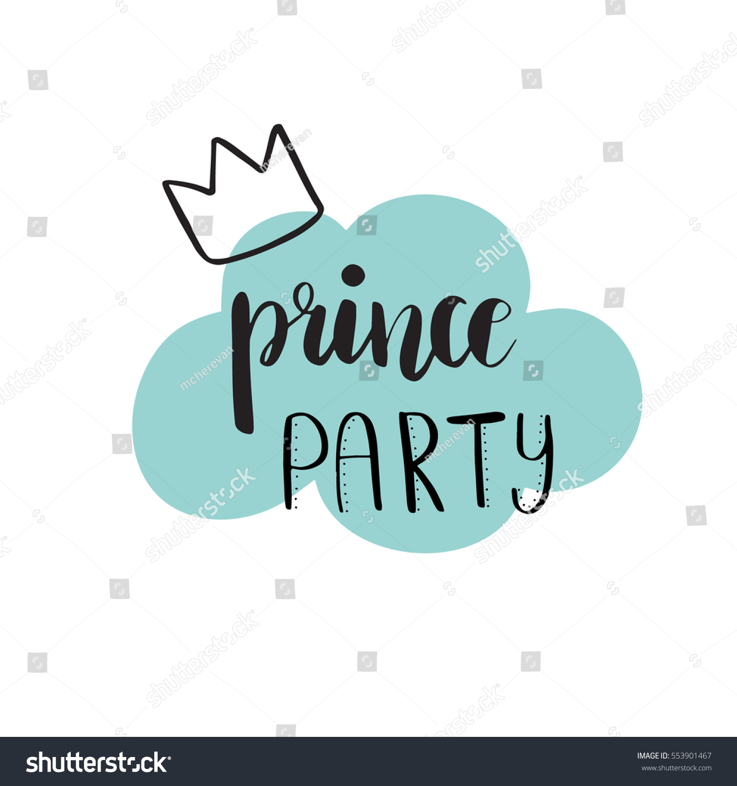 prince party bridal shower card design birthday boy lettering quote typography vector for postcard