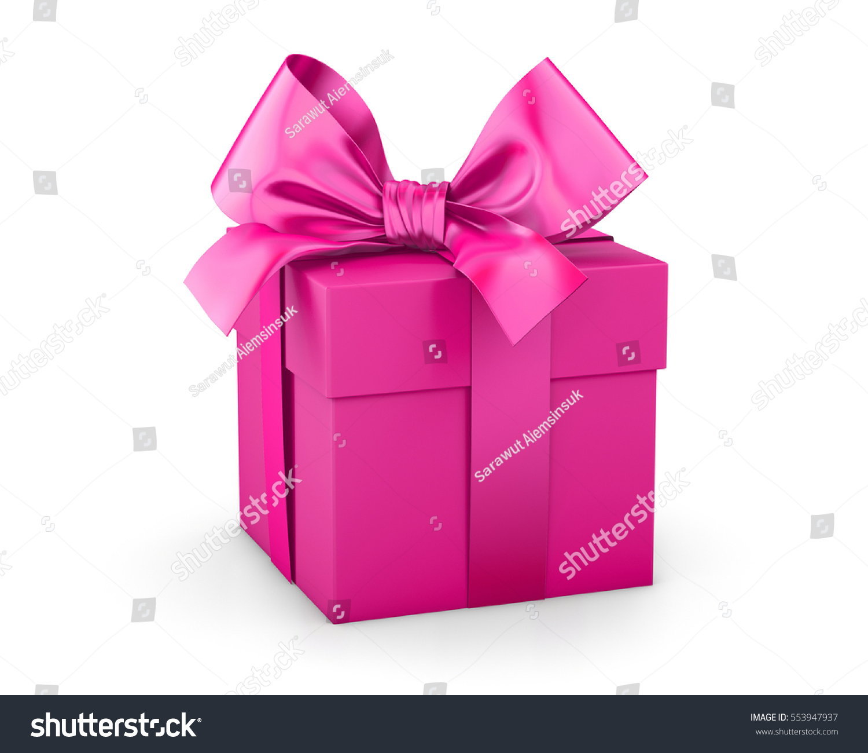 Pink Gift Box Valentine Day Concept Stock Illustration 553947937 ...