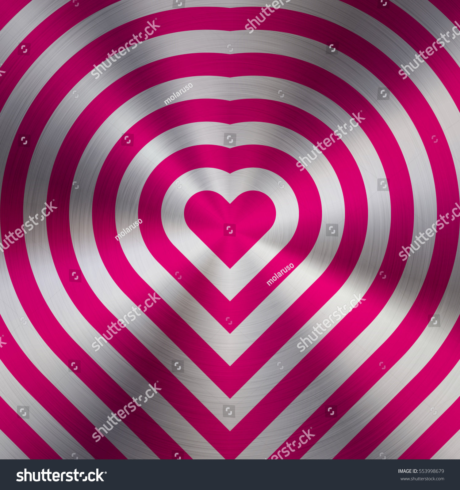 magenta metal abstract heart technology background stock vector