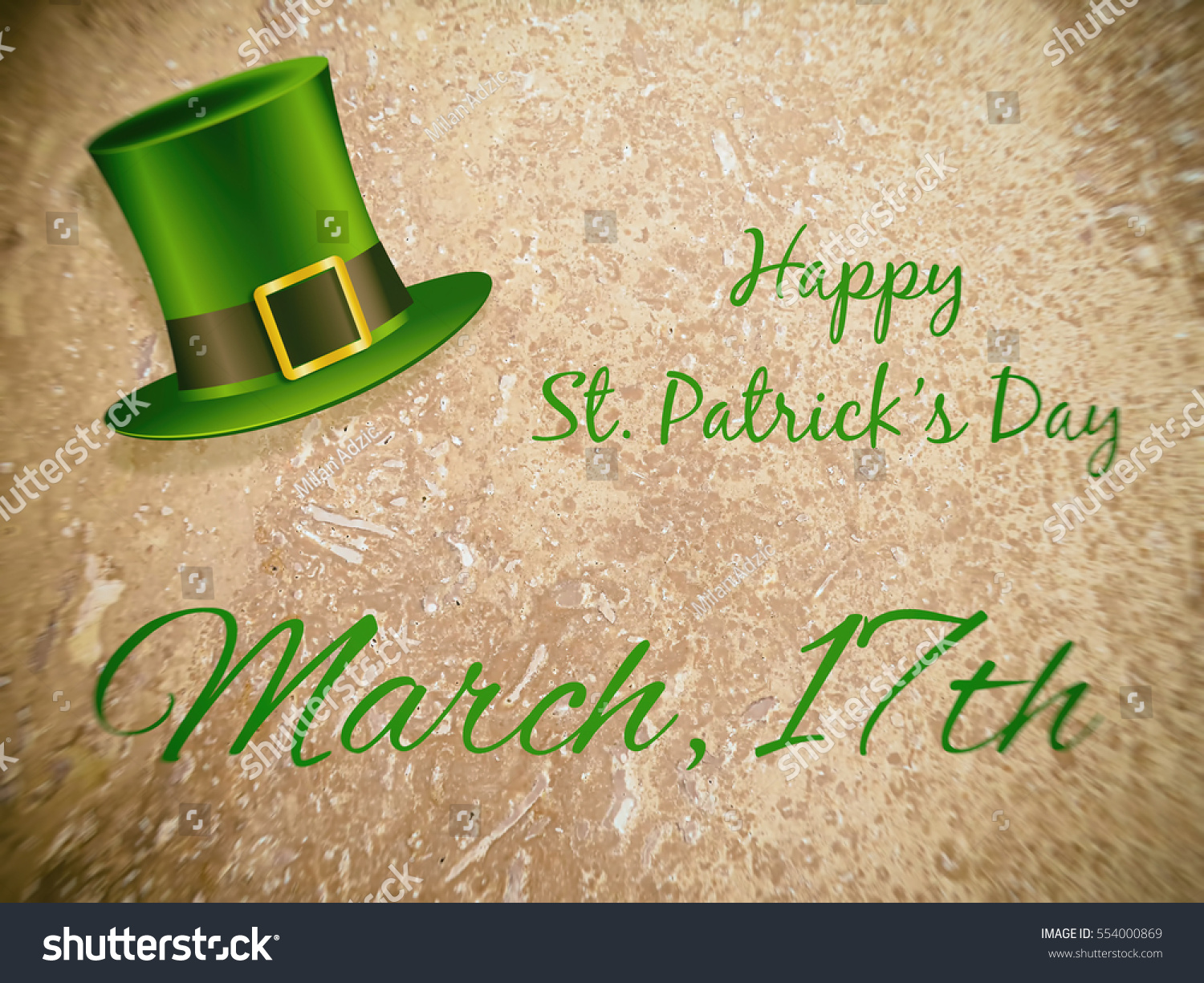 Happy St Patricks Day March 17th Stock Illustration 554000869