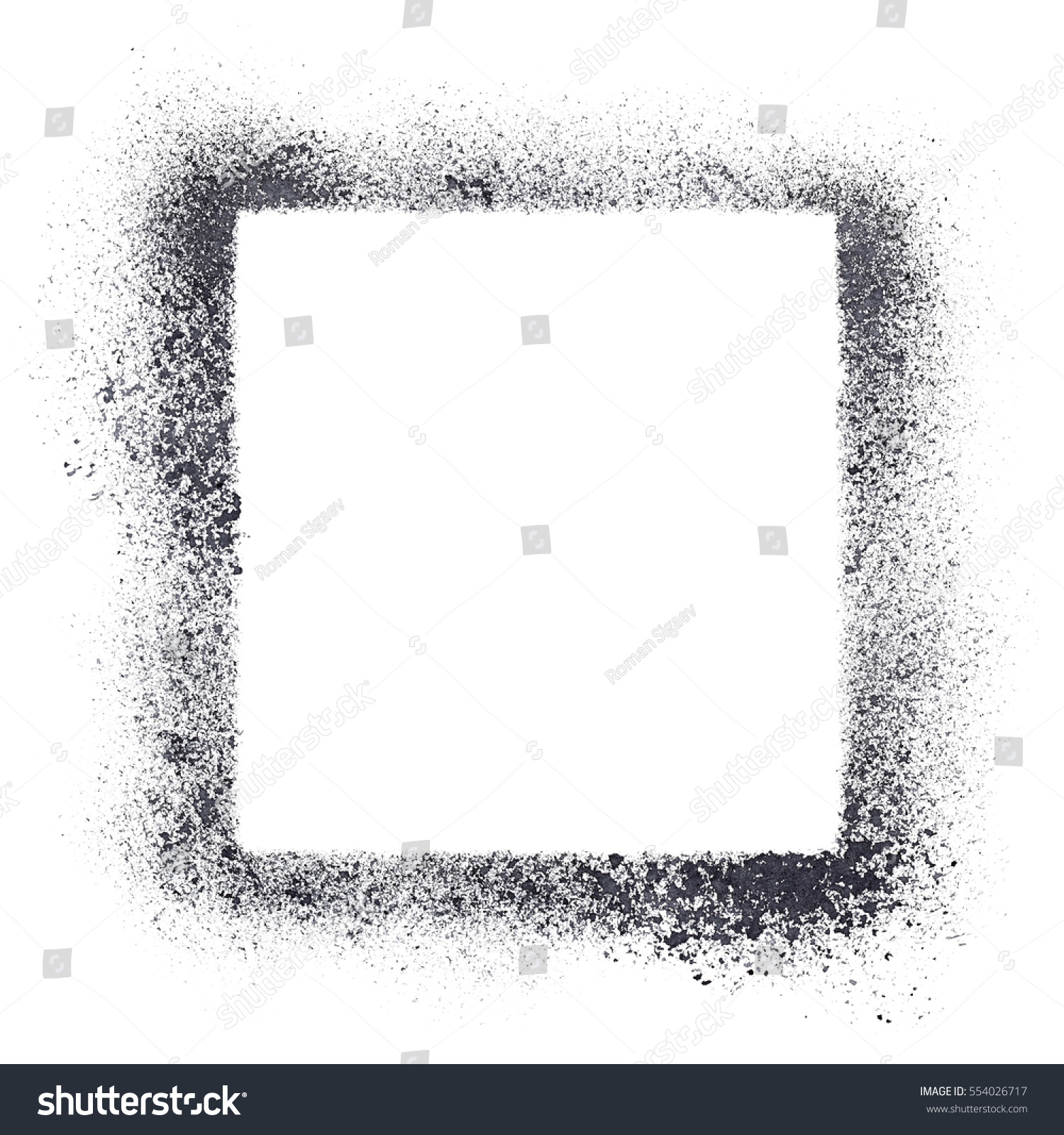 Square Stencil Frame Isolated On White Stockillustration 554026717 ...