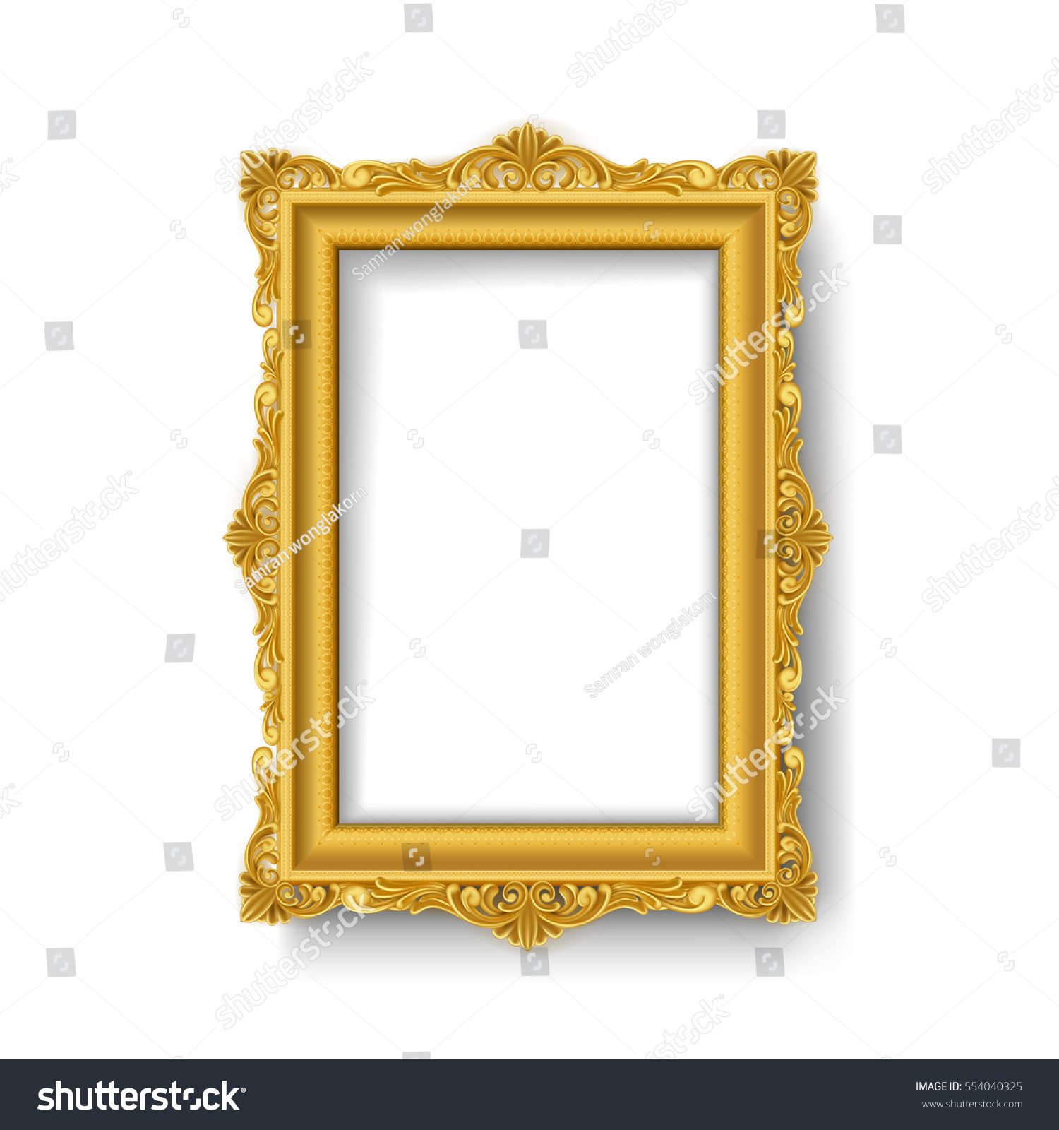 Vintage Gold Picture Frame Stock Vector 554040325 - Shutterstock