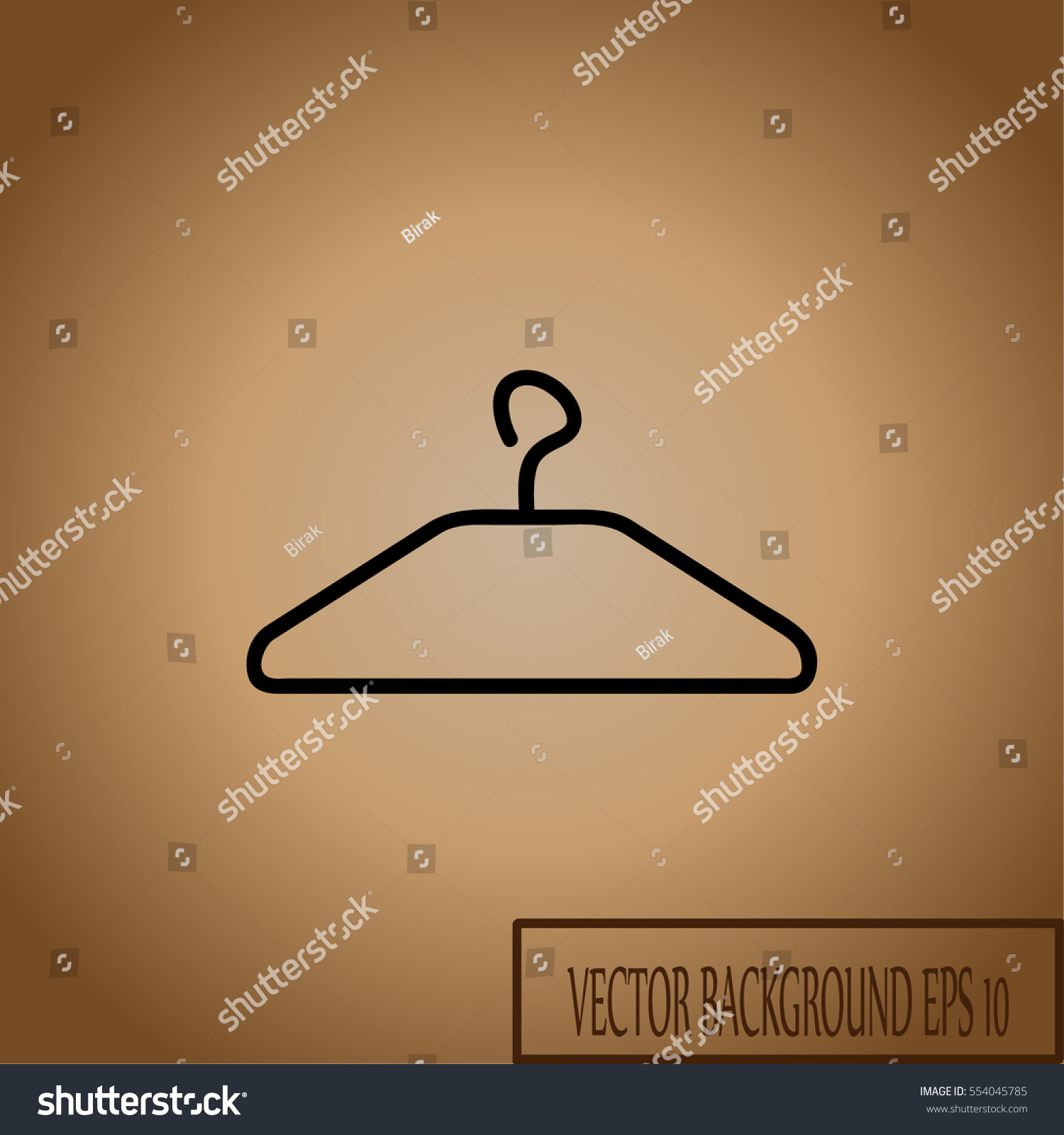 Clothes hanger vector illustration coat rack stock vector clothes hanger vector illustration coat rack for hanging apparel with a hook on top biocorpaavc