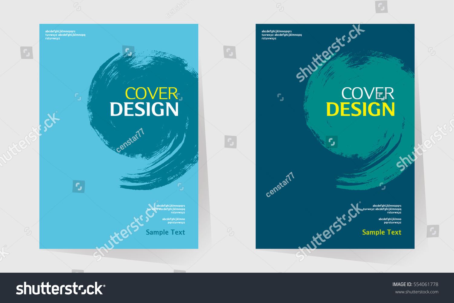 How To Make A Book Cover In Paint : Book cover design vector template a stock