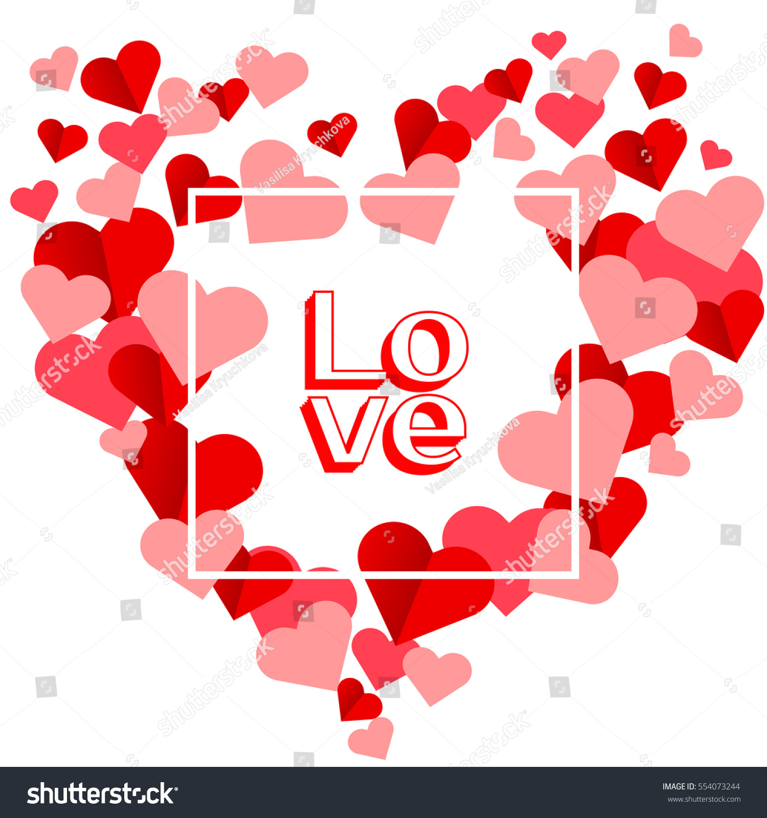 Happy valentines day greeting card valentine stock vector 554073244 happy valentines day greeting card the valentine day on a white background with red hearts kristyandbryce Images