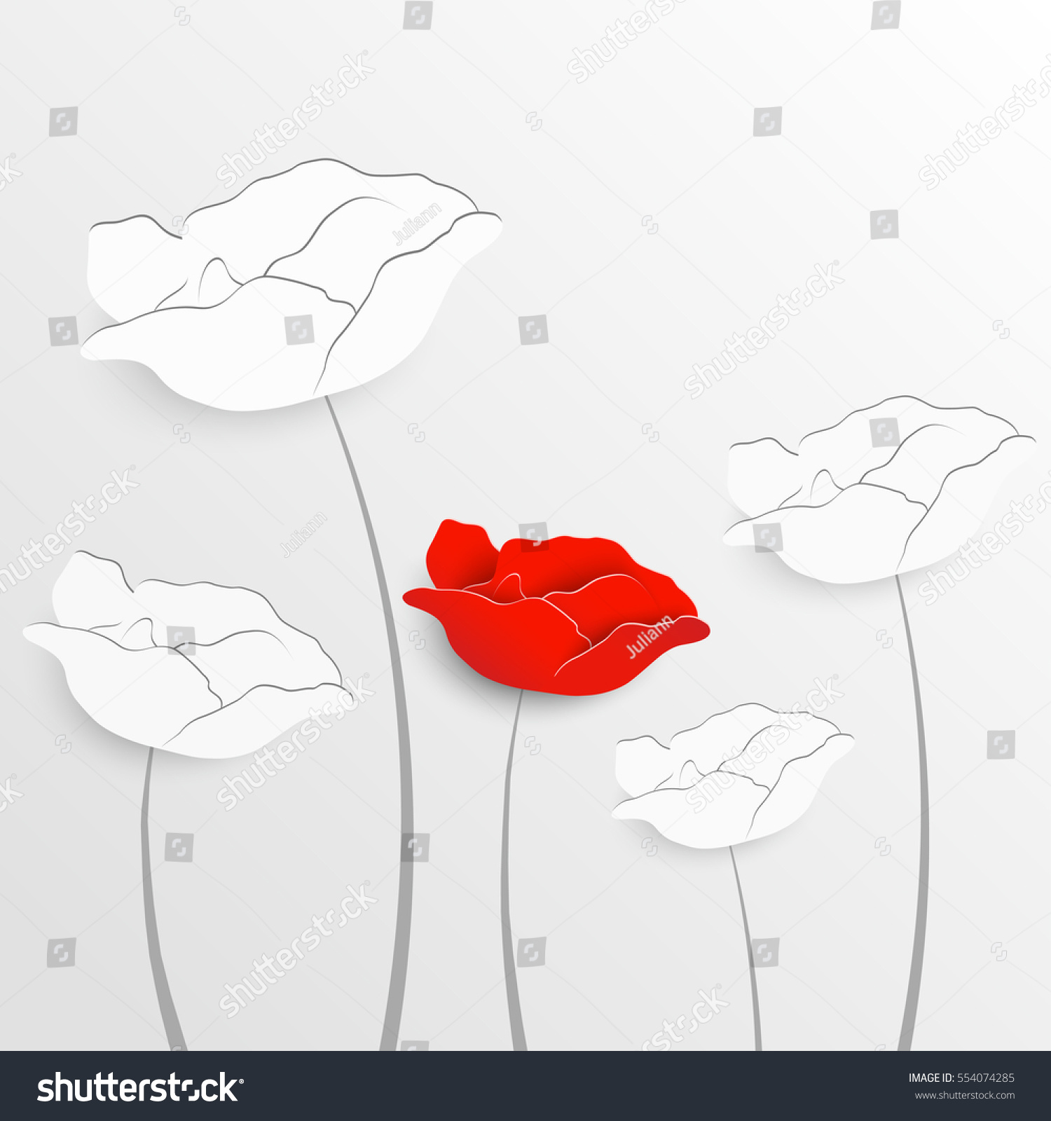 Paper Flower Rose Cut Out Paper Stock Photo Photo Vector