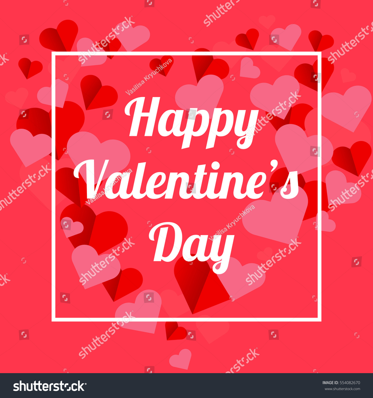 Happy valentines day greeting card valentine stock vector happy valentines day greeting card the valentine day on a pink background with red hearts kristyandbryce Image collections