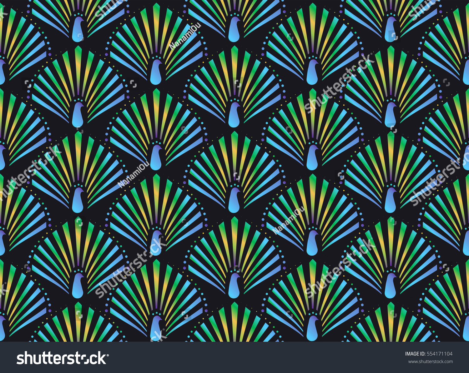 vector abstract peacock seamless - photo #16