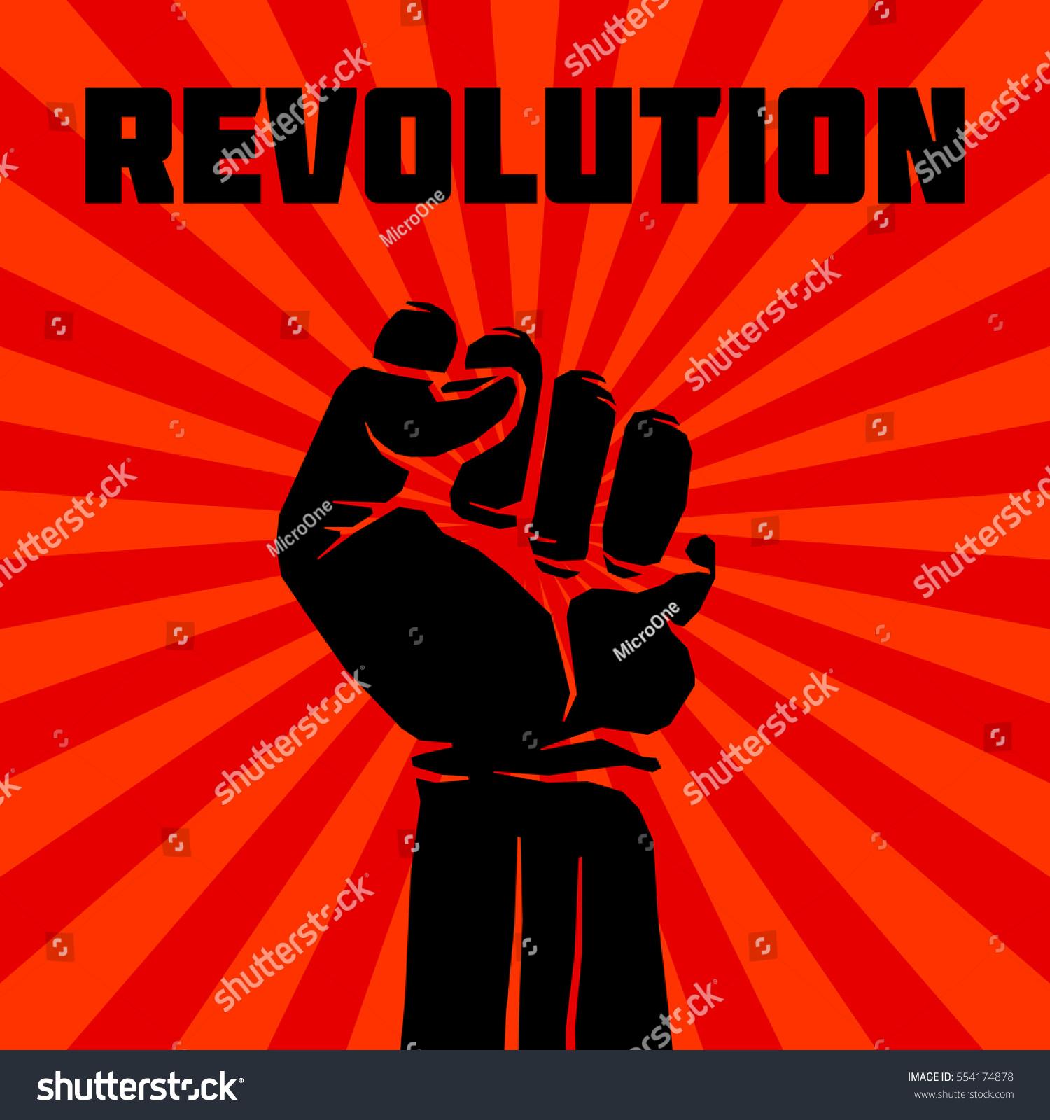 Protest Rebel Vector Revolution Art Poster Stock Vector