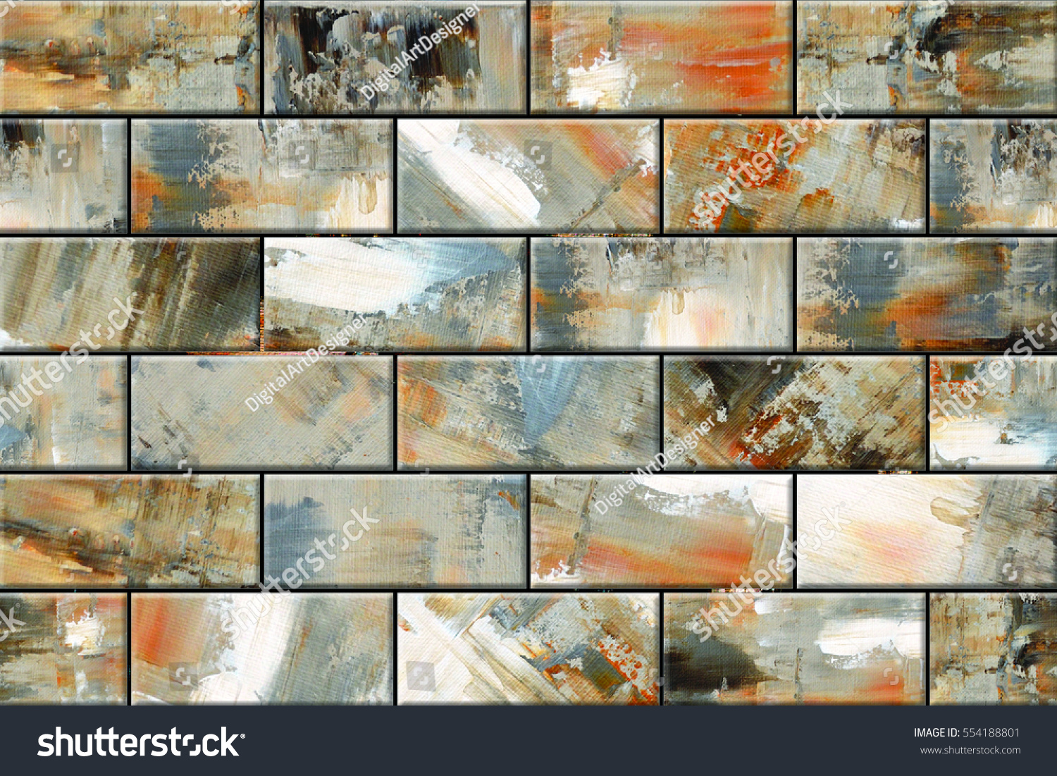 Colorful Vintage Ceramic Tiles Wall Decorationdigital ...