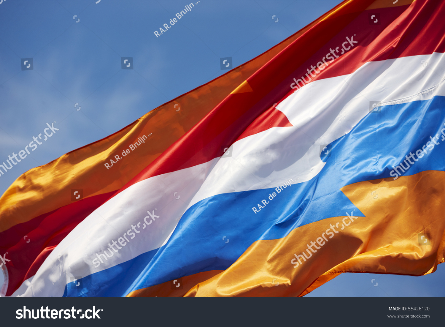 """New"" Dutch Flag With The Orange Color Of The Royal Family ..."
