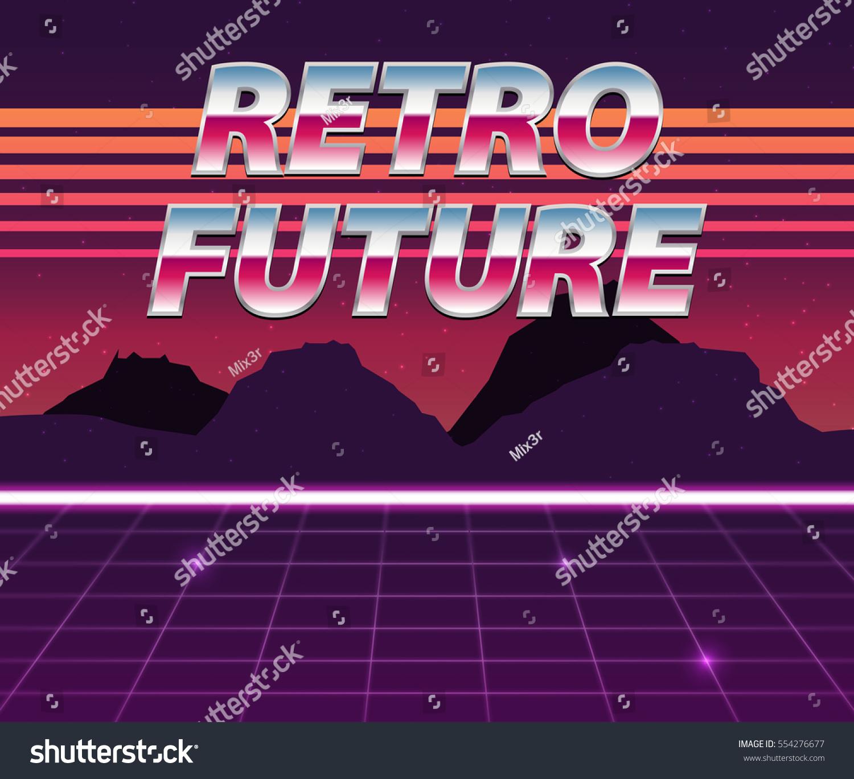 Digitalrevolution Blog Retro Sci Fi: Retro Future 80s Style Scifi Background Stock Vector